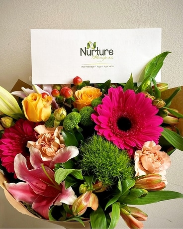 Flowers & Massage Gift Set Flower Arrangement