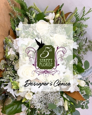 Classic White Designer's Choice Flower Arrangement