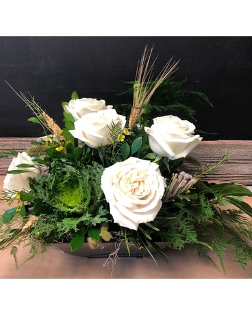 Fall in Lavish White Flower Arrangement