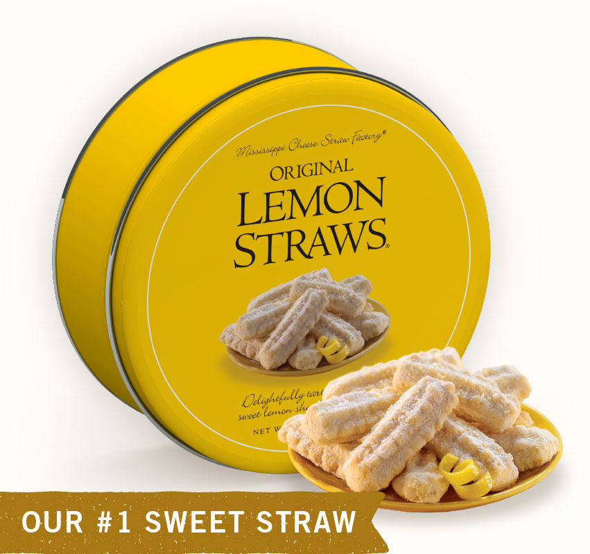 Lemon Straws Gift Tin