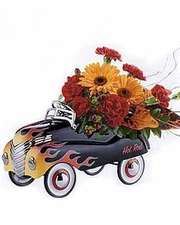 Hot Rod Car Flower Arrangement