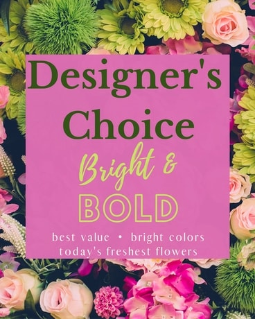 Designer's Choice - Bright & Bold Flower Arrangement