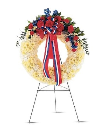 Patriotic Spirit Wreath Flower Arrangement