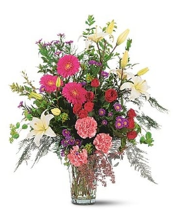 Elaborate Expressions Vase Flower Arrangement