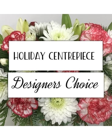 Holiday Centerpiece Designer's Choice Flower Arrangement
