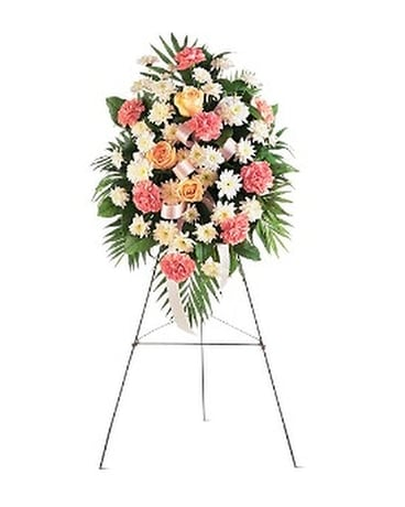 Gentle Thoughts Spray - by Sue Ellen's Floral Bout Flower Arrangement