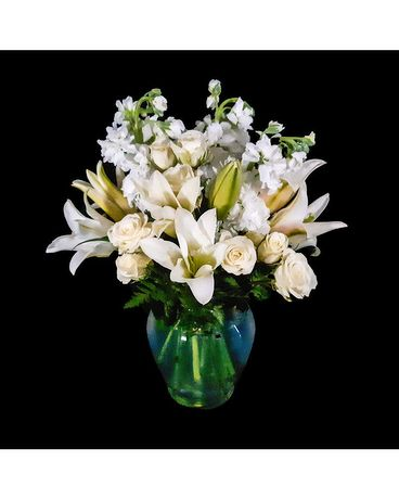 Lovely in White Flower Arrangement
