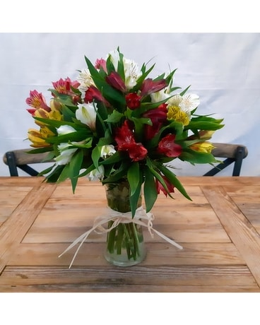 Parrot Lilies Flower Arrangement
