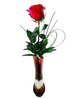 Simple Red Rose Arrangement Flower Arrangement