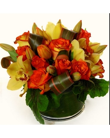 Orange Array Flower Arrangement