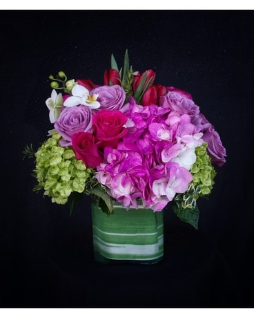 Purple Pastels Flower Arrangement