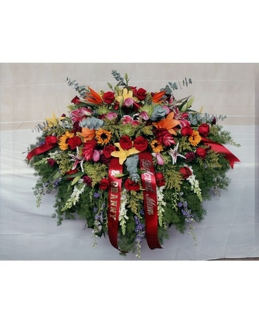 Casket Spray 25 Flower Arrangement