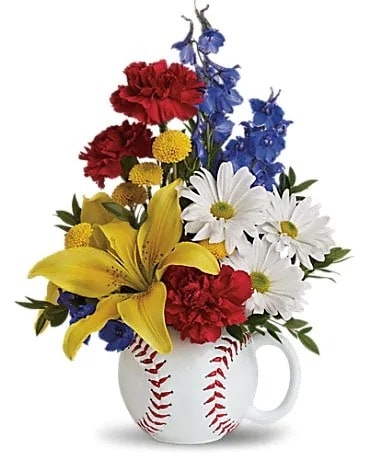 Take Me Out to the Ball Game Flower Arrangement