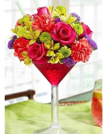 The Flowertini Flower Arrangement