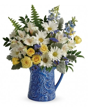 Teleflora's Bright Skies Bouquet Flower Arrangement
