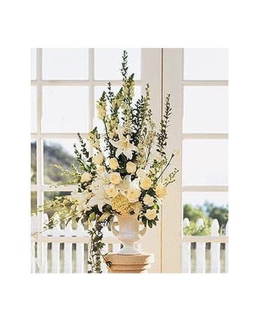 Home Ceremony Wedding Vows Arrangement Flower