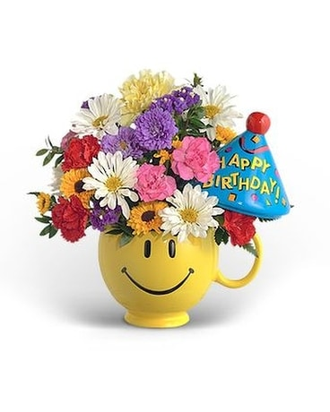 Have A Nice Birthday Boy Flower Arrangement