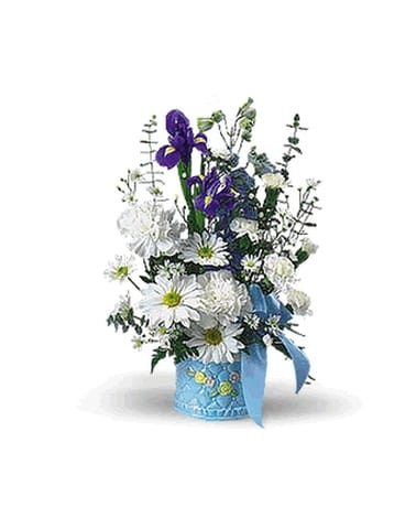 Joy in blue and white in christiansburg va gates flowers gifts joy in blue and white flower arrangement mightylinksfo