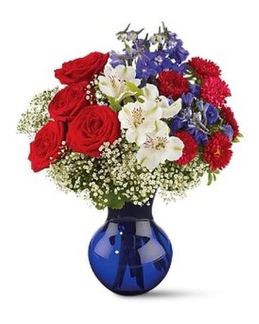 Red white and true bouquet in christiansburg va gates flowers gifts red white and true bouquet flower arrangement mightylinksfo