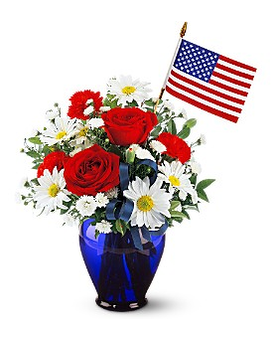 Spirit of America Flower Arrangement
