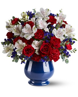 Sweet Liberty Bouquet Flower Arrangement