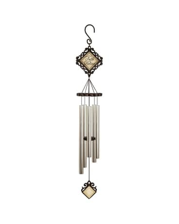 Have Faith and Believe Wind Chime Flower Arrangement