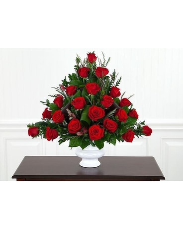 Red Rose Tribute Flower Arrangement
