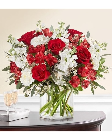 Crimson Rose Flower Arrangement