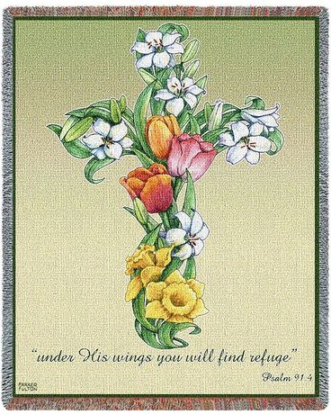 Mixed Bouquet Cross Throw Gifts