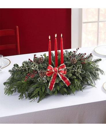 Christmas Centerpiece Flower Arrangement