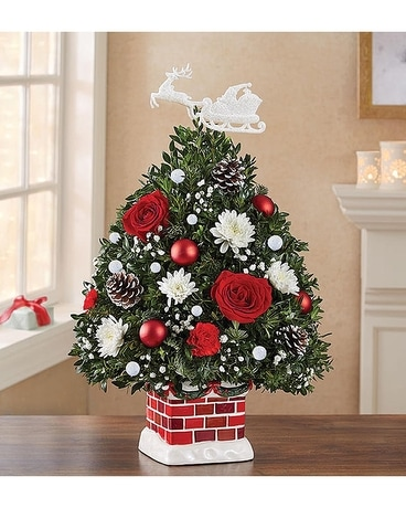Night Before Christmas Tree Flower Arrangement