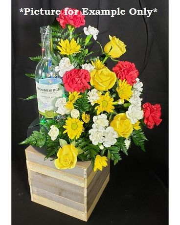 Cheers to Life Light-Up Wine Bottle Flower Arrangement