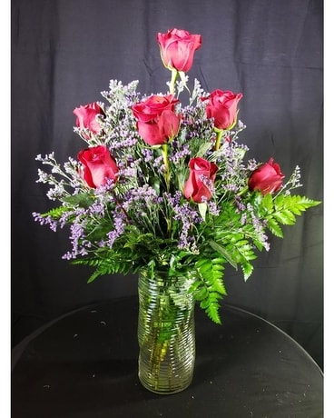 1 Dozen Long-Stem Red Roses Flower Arrangement