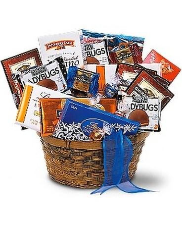 Chocolate Lover's Basket Flower Arrangement ...