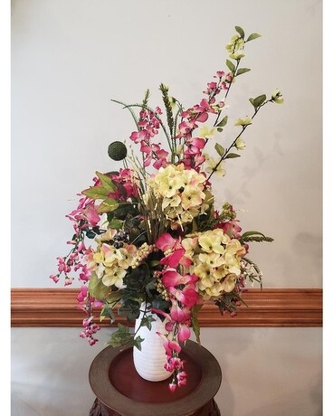 Whimsy in the Spring Flower Arrangement