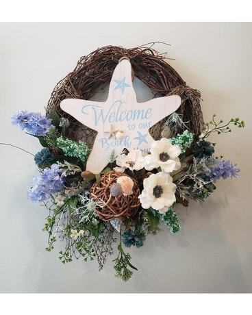 Beach House Vibes Wreath Flower Arrangement