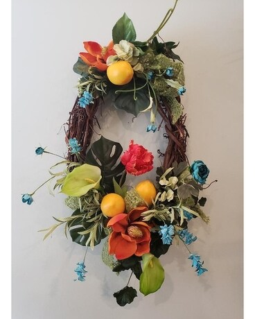 Freshly Squeezed Wreath Flower Arrangement