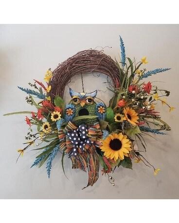 Front Door Friend Wreath In Fayetteville Nc Anns Flower Shop