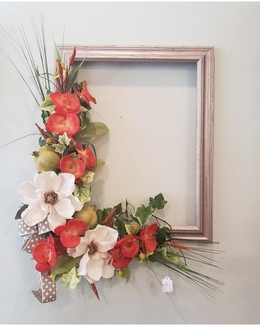 Picture Perfect Wreath Flower Arrangement