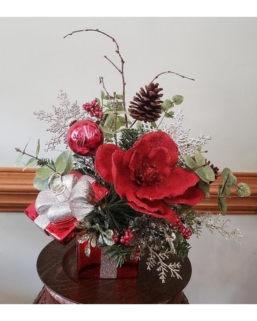 The greatest gift of all christmas silk in fayetteville nc anns the greatest gift of all christmas silk flower arrangement mightylinksfo