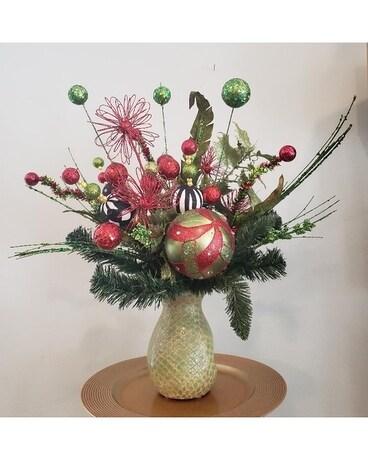 Jingle bell rock christmas silk in fayetteville nc anns flower shop jingle bell rock christmas silk flower arrangement mightylinksfo