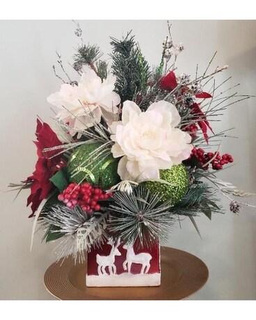 Reindeer dance christmas silk in fayetteville nc anns flower shop reindeer dance christmas silk flower arrangement mightylinksfo