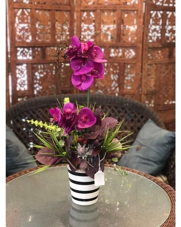Perfectly Purple Orchid Flower Arrangement