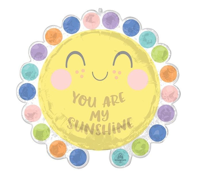 You Are My Sunshine, #40, Mylar Balloon