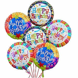 Birthday Mylar Balloon - Designers Choice, 21MYL-006