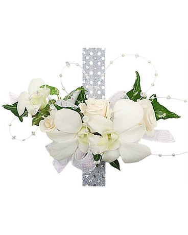 Corsages by fellys flowers delivery madison wi fellys flowers quick view white orchid and white rose corsage mightylinksfo