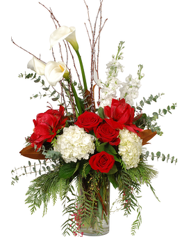 Christmas Cheer Flower Arrangement
