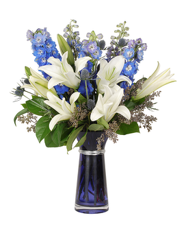 Out of The Blue Flower Arrangement