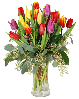 Tulip Rainbow Flower Arrangement