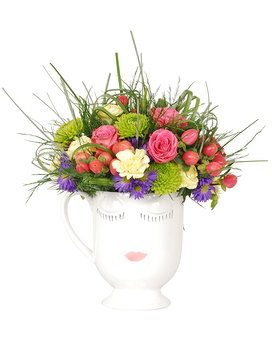 Glam Mug Flower Arrangement